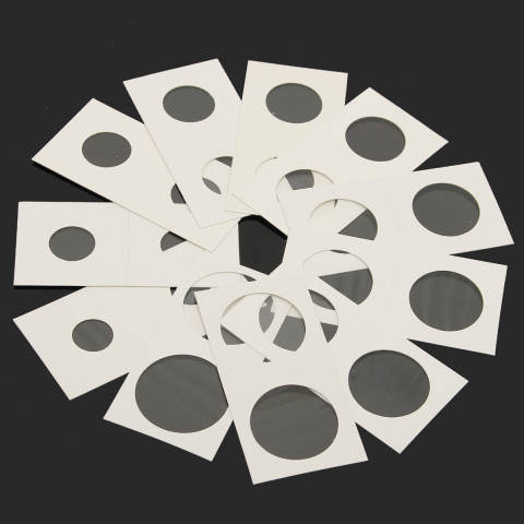 50 Pcs Berjenis Cap Kertas Karton Kotak Penyimpanan Pemegang Koin Case 27.5-Intl 3