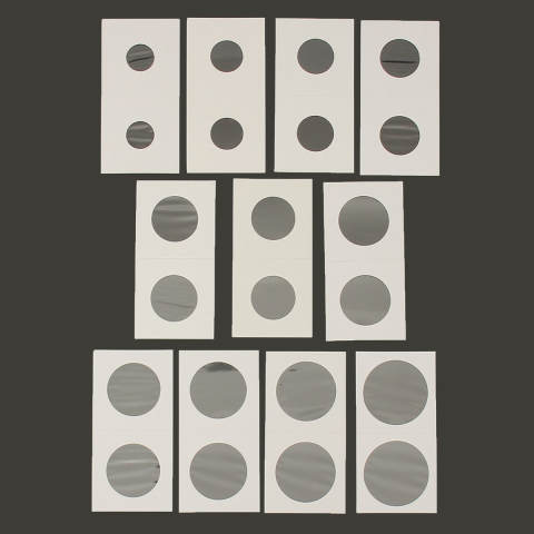 50 Pcs Berjenis Cap Kertas Karton Kotak Penyimpanan Pemegang Koin Case 27.5-Intl 4