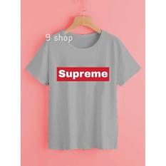9 Shop Kaos Cewek Tumblr Tee SUPREME - GREY | Kaos Wanita | T-shirt Wanita | Kaos Lengan Pendek | Kaos Wanita Murah | Kaos Tulisan | Atasan Wanita | Kaos Remaja