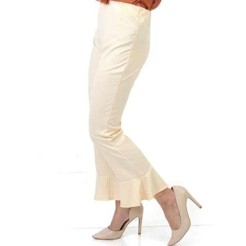 Ace Fashion Axel Cullote Pants - Celana Kulot Wanita - Cream
