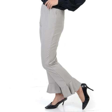Ace Fashion Axel Cullote Pants - Celana Kulot Wanita - Grey
