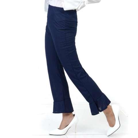 Ace Fashion Axel Cullote Pants - Celana Kulot Wanita - Navy