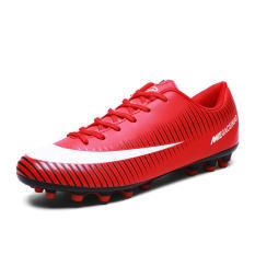 AG Buatan Manusia Rumput Pertandingan Anak-anak Baju Sepak Bola Sepatu Orang Tua Dan Anak Sepatu (Merah Tua)