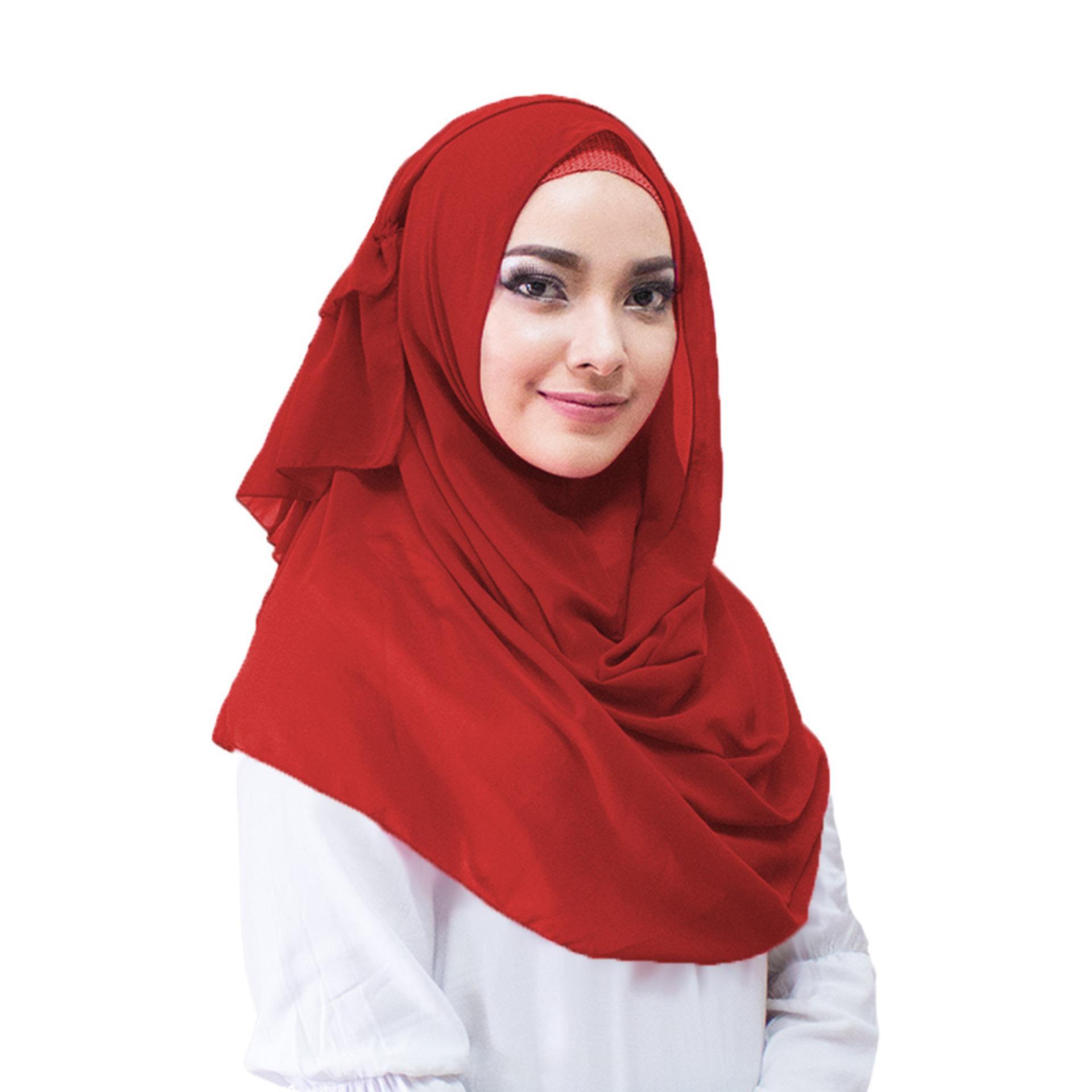 Produk Diskon Terlaris Wolfis Monalisa Jilbab Instan Kerudung Nbsp Aime Hijab Instant Warna Merah