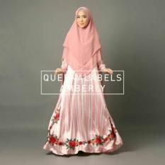 Gamis Syari Amberly Peach Original by Queenalabels READY