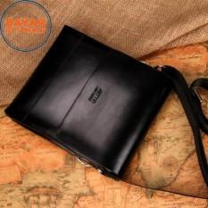 Asttin Tas Kulit Pria 10 Inchi PU Leather Premium Expandable Waterproof Original - Black