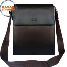 Asttin Tas Kulit Pria 10 Inchi PU Leather Premium Expandable Waterproof Original - Coffee
