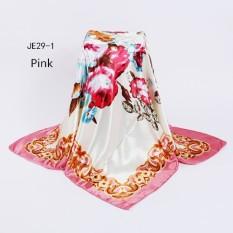 Musim Gugur Musim Dingin Twill Besar Square Multicolor Floral Twill Syal Headscarves 90*90 Cm Aksesoris Mode Ladies Multi Head Shawl Cashmere Pashima Jilbab Syal Cape-Internasional