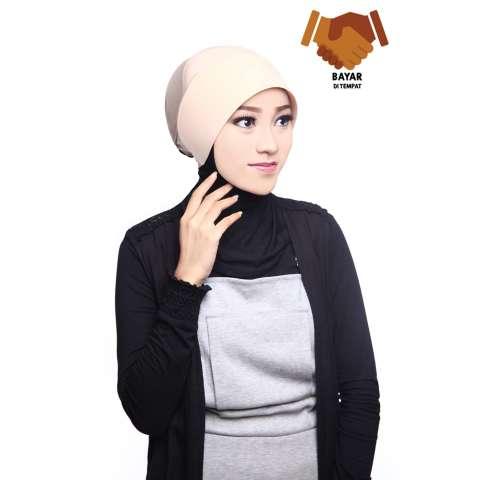 Auzara Hijab - Ciput Marsya - Creme /Mika Antem(Anti Tembem) / inner
