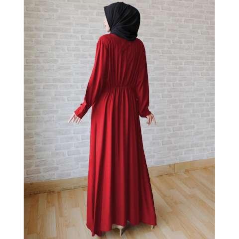Ayako Fashion Long Sleeve Maxi Hilda (Maroon) 2