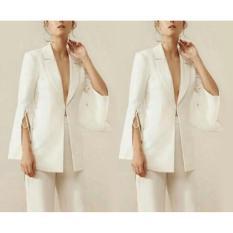 Ayu Fashion Blazer Rebecca - White  - Best Seller
