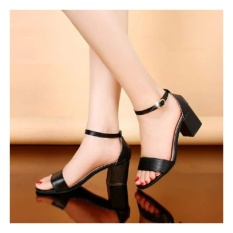 azkashoes Sepatu Wanita Heels Hak Tahu Hitam