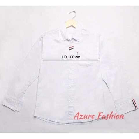 Azure Fashion JUSTIN TOP - WHITE KEMEJA PRIA KEMEJA CASUAL KEMEJA LENGAN PANJANG