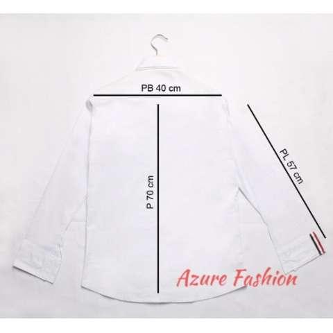 Home Azure Fashion JUSTIN TOP WHITE KEMEJA PRIA KEMEJA CASUAL KEMEJA LENGAN PANJANG .