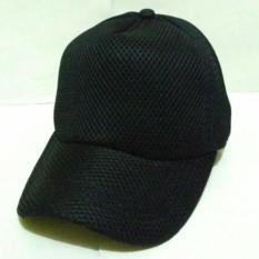 Azzalea Jaya-Topi Jaring Polos - Topi Jala - Topi Jaring - Army Hitam