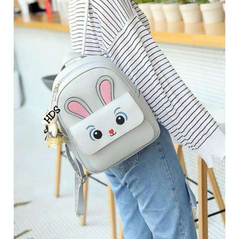 Backpack Korean Style Sparkle Eyes Bunny 4 in 1 (Backpack/ Tas Ransel, Sling