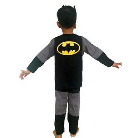 Baju Anak Kostum Topeng Superhero Batman - 1 set SIZE 4-6 (1-2 TAHUN) 1