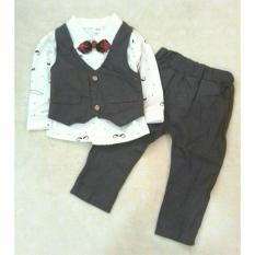 Baju Anak Setelan Rompi Fashion Import / Baju Pesta Anak Cowok Tuxedo