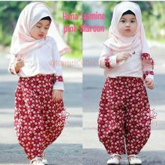 baju busana muslim anak perempuan I baju batik I setelan baju batik anak umur 1,2,3,4,5,6 tahun I hana