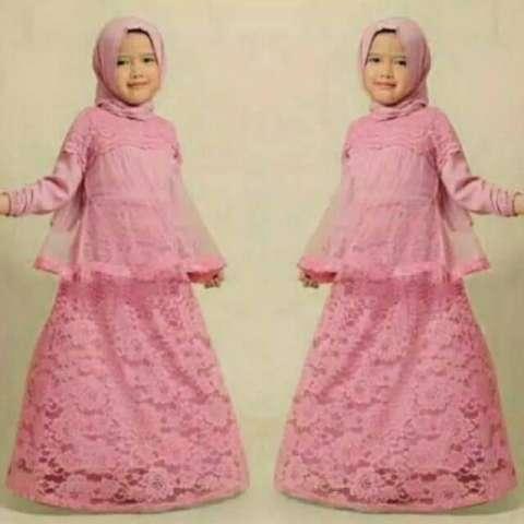 Jual No Wa O81233176o35 Gamis Pesta Anak Bahan Brokat Baju Muslim