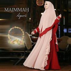 Baju Gamis Maimmah Syari Khimar Sifon Ceruty