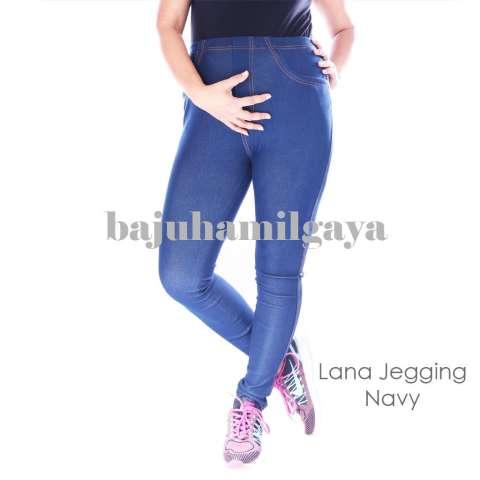 Baju Hamil Gaya - LANA JEGGING NAVY - Celana Hamil Baju Hamil Murah 1