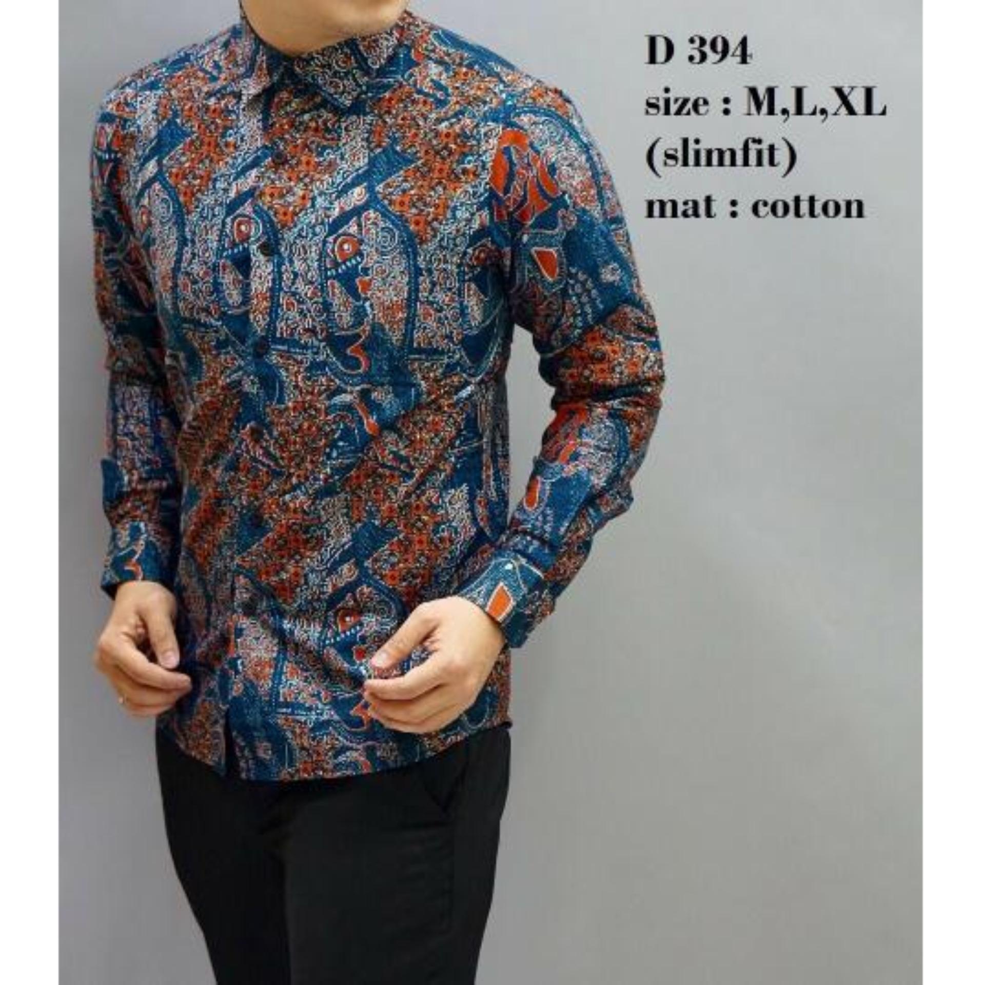 Baju Kemeja Batik Slimfit D394 - Original ODZA - Fashion Pria - Hem Cowok