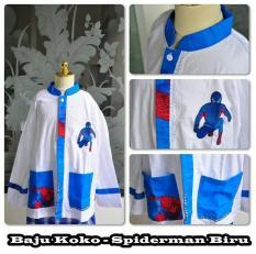Baju Koko Anak Spiderman Warna Biru Unik