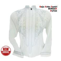 Baju Koko Putih Murah Lengan Panjang - BORDIR