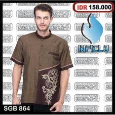 Baju Koko Takwa Pria Busana Muslim Gamis Lengan Pendek Panjang Murah - 3C6ea9