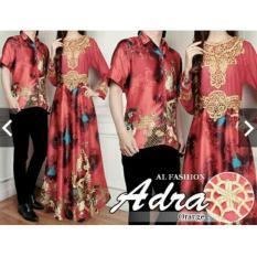 Baju Kondangan Batik Sutra Couple - Batik Sutera Mewah Elegan - Baju Pesta Pasangan Mewah Bahan Sutra - Kebaya Modern - Gamis Pesta Couple