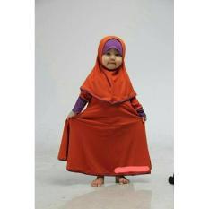 Baju Muslim Gamis Anak Perempuan Warna Orange Ungu