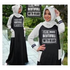 Baju Muslim Gamis Hijab Pashmina Murah Promo Lebaran Simple Cantik