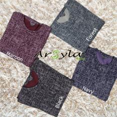 Baju Muslim Gamis Linen Patern Premium Motif Abstrak Kancing Depan Busui Friendly Fashion Wanita