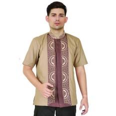 baju muslim pria,baju koko murah,busana muslim pria JSR 245 / kemeja muslim pria casual / kemeja koko cowok warna coklat terbaru murah / baju hari raya
