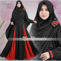 Baju muslim/pakaian wanita muslim/Gamis set Sarwa syari Matt full Jersey size L - Besar (5 color)