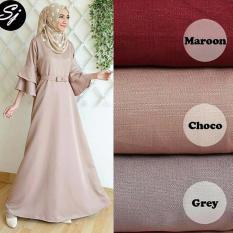 Baju Original Anjani Gamis Wolfice Gaun Pesta Panjang Baju Hijab Terusan Pengajian Wanita Muslimah Warna Choco