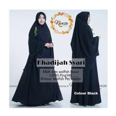 Baju Original Dress Khadijah Syar'i Gamis Baju Panjang Casual Wanita Hijab Baju Pesta Modern