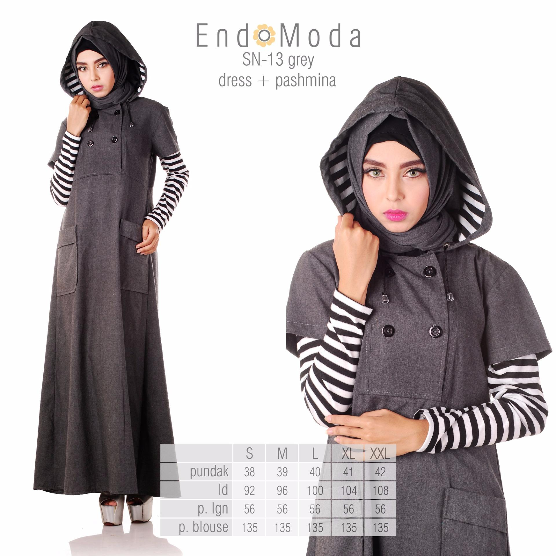 ... Baju Original Endo Moda SN-13 Dress Wanita Baju Muslim Modern Gamis  Katun Supernova Premium d8bf77a789