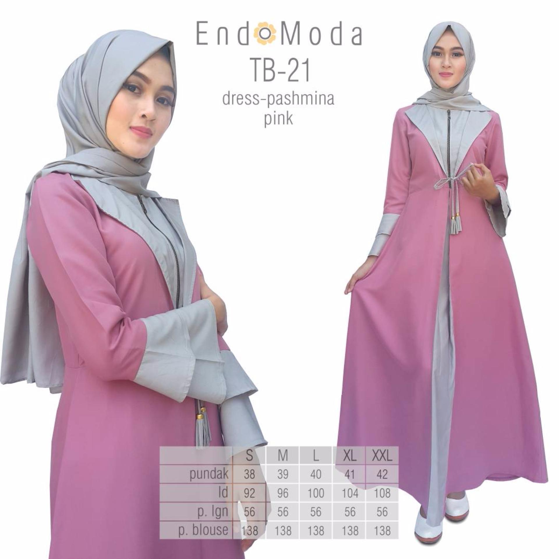 ... Baju Original Endo Moda TB-21 Dress Wanita Baju Muslim Modern Gamis  Katun Supernova Premium dd557ec747
