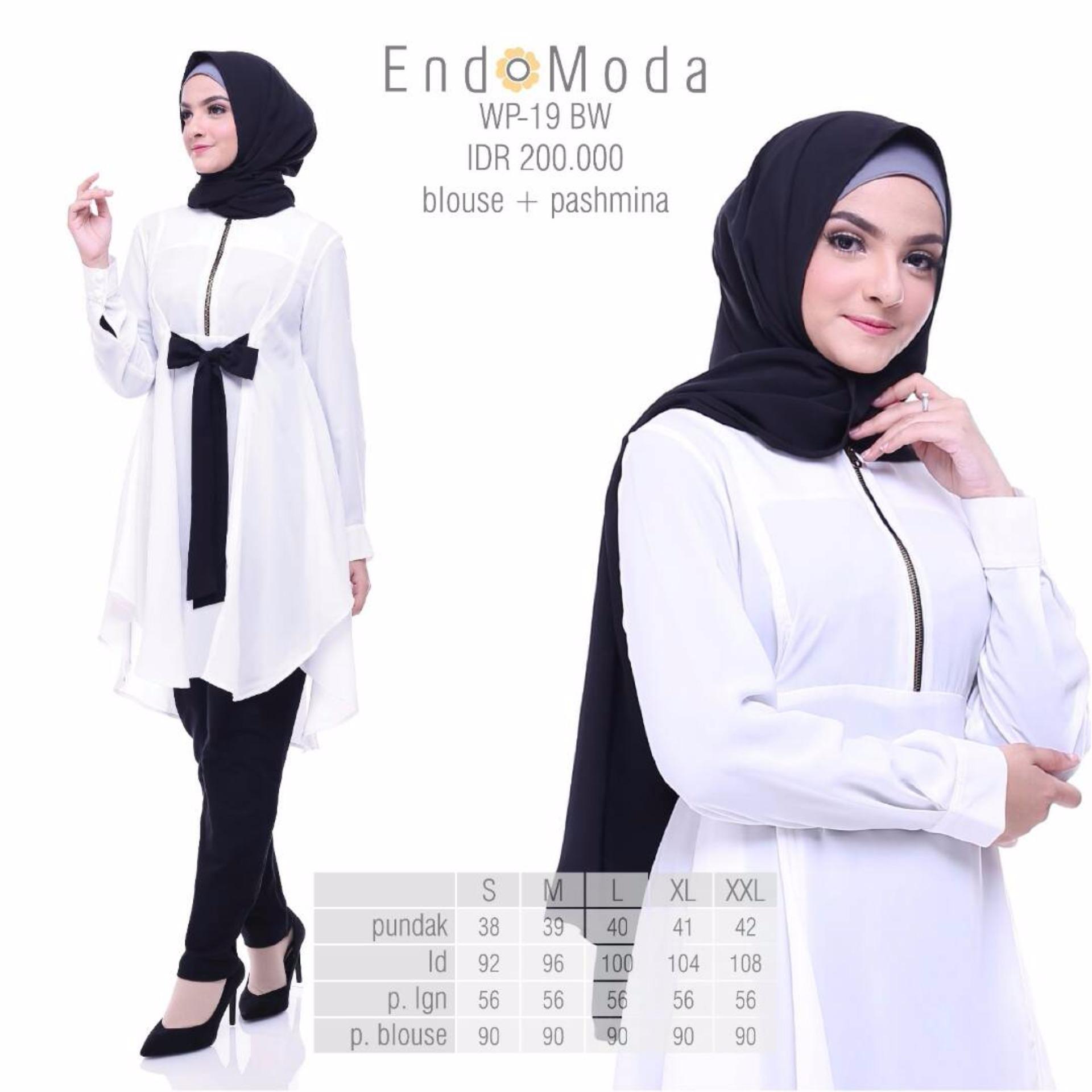 Baju Original Endo Moda Wp-19Blouse Wanita Baju Muslim Modern Gamis Katun  Supernova Premium WarnaBroken d3552167b0