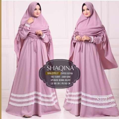 Baju Original Gamis Shaqina Syar'i Dress Baju Panjang Casual Wanita Hijab Baju Modern Trendy