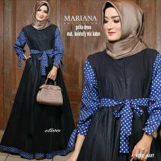 Baju Original Mariana Dress Balotelly Mix Katun Gamis Panjang Hijab Casual Pakaian Wanita Hijab Model Terbaru 2018