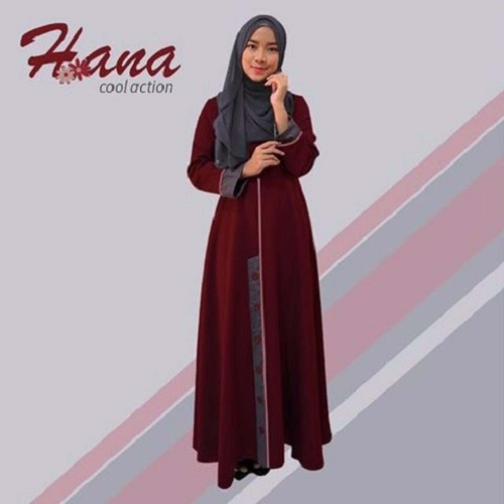 Baju OriginalHana H-01Baju Muslim Baju Hijab Baju Muslim Modern Wanita Baju  Muslim Gamis Dress 8b906c6dd9