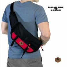 bajuku murah sling bag black red b-mu 5833 tas selempang pria tas jinjing pria koper fashion pria trendy gaul tas distro tas samping pria dompet pria batik kemeja superhero kaos kerah bulat oblong