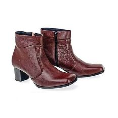 Baricco BRC 309 Sepatu Boots Formal Wanita Kulit Asli Modis ( Coklat )