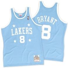 Basket Jersey Kobe Bryant Mitchell & Ness NBA #8 Los Angeles Lakers 2004-2005 Pria Dewasa Kering Cepat Lembut-Intl