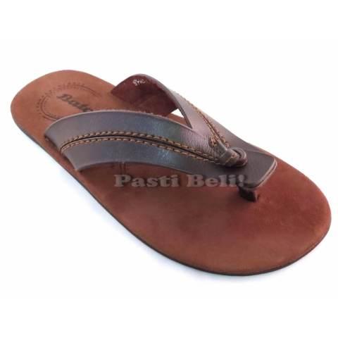 Bata Sandal Pria Kulit Keren 871-4425 - Coklat