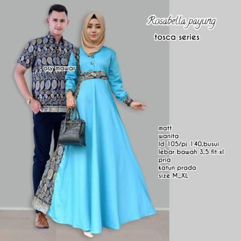 TERMURAH - Baju Batik Couple / Baju Batik Sarimbit / Baju Batik Modern Ratu Rosabella Payung