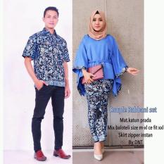 Batik Couple / Batik Sarimbit / Baju Kondangan Rabbani Set - Biru